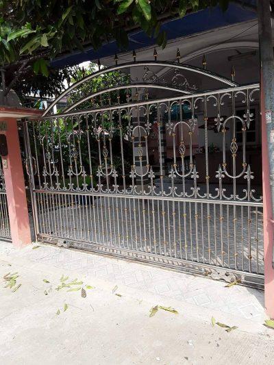 ประตูสแตนเลส นครปฐม